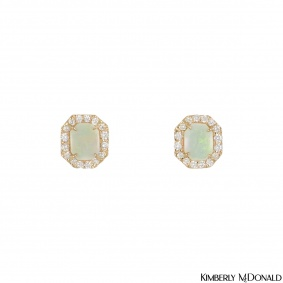 Kimberly McDonald Rose Gold Opal & Diamond Earrings